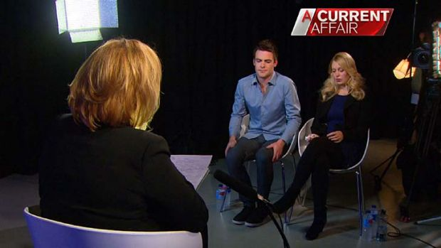 Michael Christian and Mel Greig talk to Tracy Grimshaw.