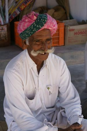 An elderly villager.