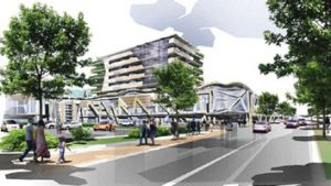 An artist's impression of the Moonee Valley Racecourse development.