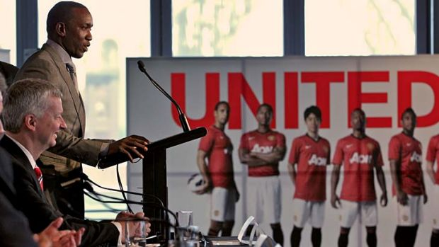 Former Manchester United and Sydney FC player Dwight York speaks to the media about the United tour to Sydney in July 2013.