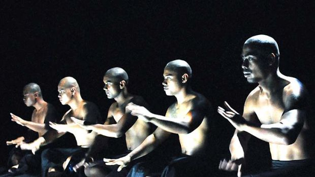A scene from Birds with Skymirrors by Samoan choreographer Lemi Ponifasio.