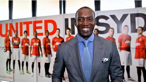 Red card … former United player Dwight Yorke.