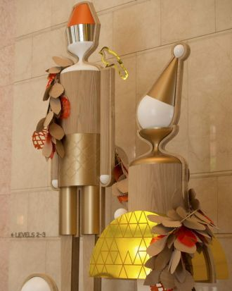 Citizens of Celebration Christmas installation by Fabio Ongarato Design and Gloss Creative, designed for Chifley Plaza.