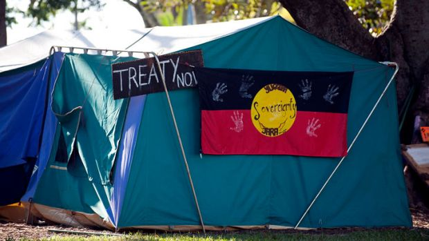 The Musgrave Park tent embassy.