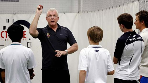 There's no problem … Craig McDermott, at his clinic on Monday, is not against Australia playing two left-arm pacemen.