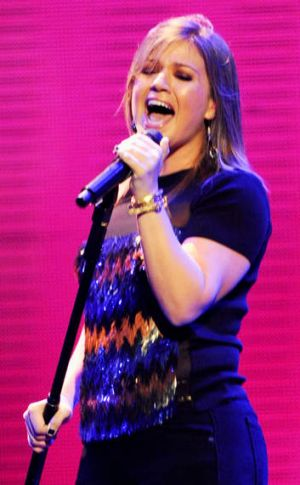 Kelly Clarkson performs at the iHeartRadio Music Festival in Las Vegas last year.