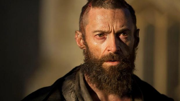 Hugh Jackman plays escaped convict Jean Valjean in <i>Les Miserables</i>.