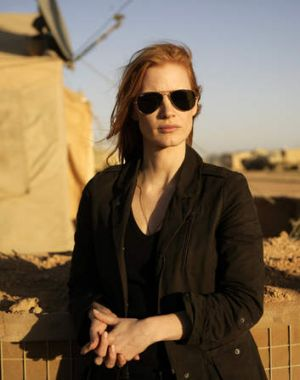 "Targeter ... Jessica Chastain as CIA agent Maya in  ""Zero Dark Thirty""."