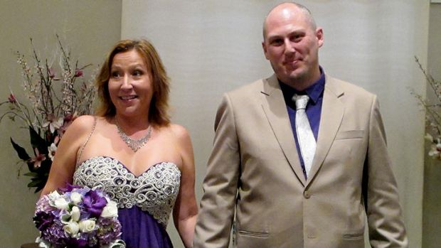 Newly wed Stafford couple Francis Hockings and Jason Wise.