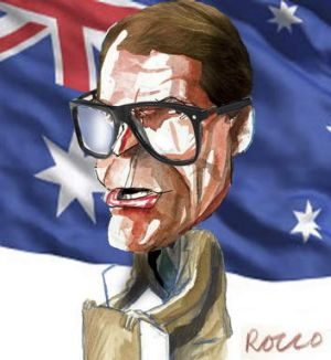 Labor senator John Faulkner. <i>Illustration: Rocco Fazzari.</i>
