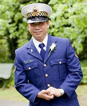 PSO James Vongvixay, who was attacked at Parliament House.