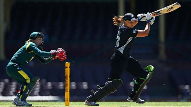 Thanks a ton: Suzie Bates of New Zealand bats during the Rose Bowl series at the SCG.