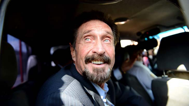 """I'm happy to be going home"" ... John McAfee."
