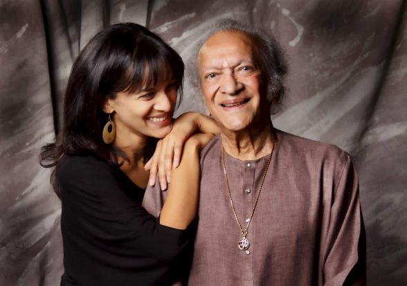 Ravi Shankar with his daughter, Anoushka Shankar.