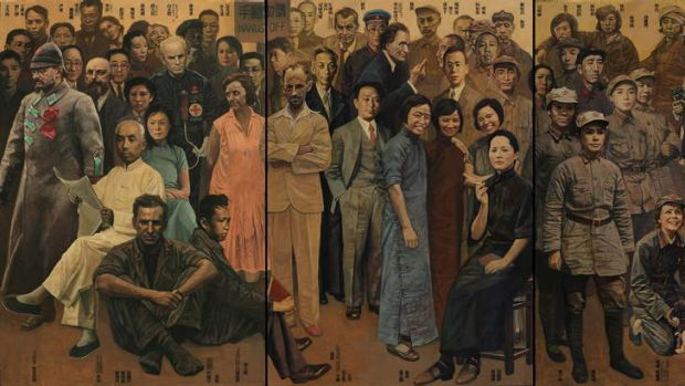 On a grand scale … Shen's <i>Brothers and Sisters Part 1: Revolution</i> (2010-2012) features 128 figures, 113 of ...