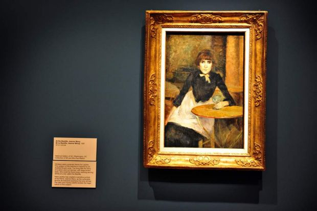 Lautrec's <i>At the Bastille, Jeanne Wenz</i>.