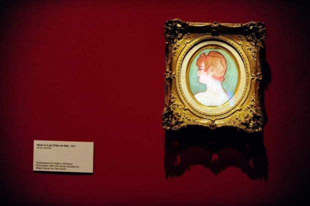 Lautrec's <i>Head of a girl</i>.