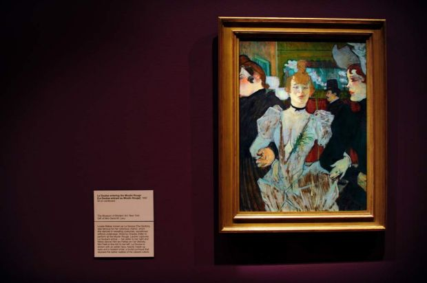 Lautrec's <i>La Goulue entering the Moulin Rouge</i>.