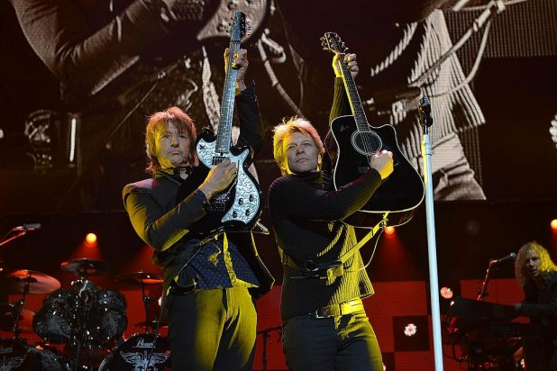 Richie Sambora and Jon Bon Jovi.