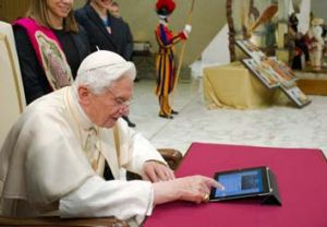 Do you want to send this message? … the Pope issues his first ''pearl of wisdom''.