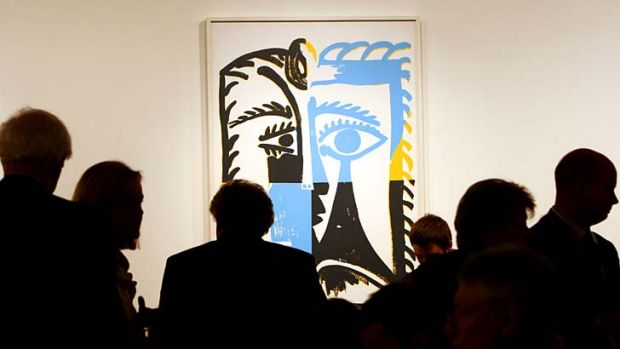 Disappointing ... <i>1985 Head (After Picasso)</i>, which had an estimate of $900,000 to $1.2 million, failed to clear.