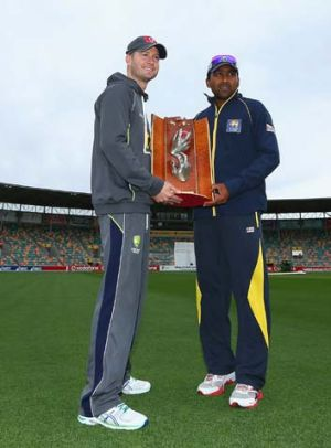 Captains ... Michael Clarke of Australia and Mahela Jaywardena of Sri Lanka.