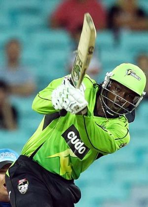 A welcome teammate ... Chris Gayle.