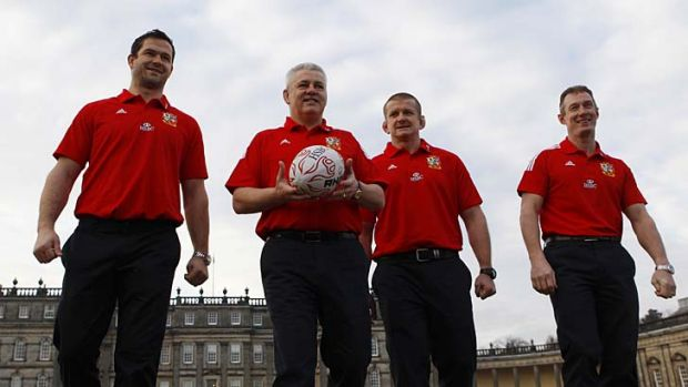 Unveiled ... the British and Irish Lions' coaching team.