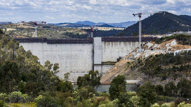 The Cotter Dam wall.