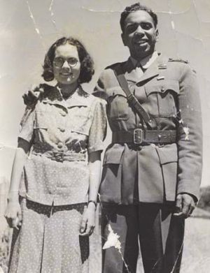 Reg Saunders with wife Dorothy.