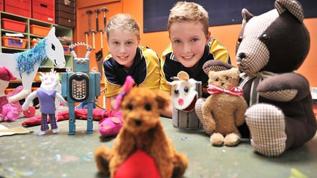 Maddi Ainslie and Calan Eastham, of Kalinda Primary, learn to deal with life's ups and downs.
