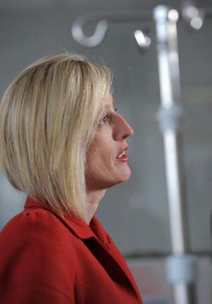 ACT Chief Minister, Katy Gallagher at the Intensive Care Unit, Calvary Hospital.