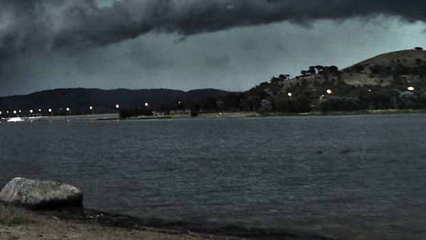 Lake Tuggeranong, where a body was found floating last week.