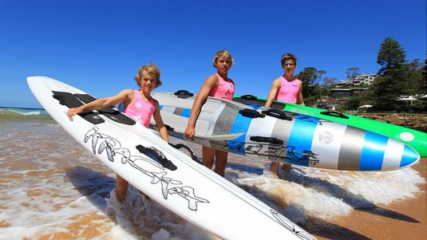 Young heroes ... Avoca Beach nippers from left, Declan Tancred, Beau Jeffries and Will Hardy.