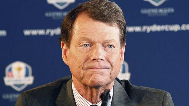 Tom Watson during the 2014 US Ryder Cup Captain's News Conference held at the Empire State Building.
