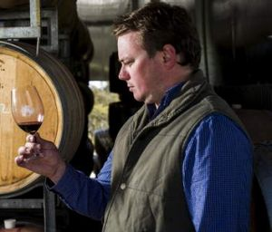 Winemaker Nick O'Leary in his winery at Bywong.