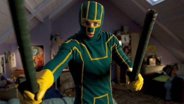 """'Confused between fantasy and reality"""" ... a scene from Kick-Ass."""