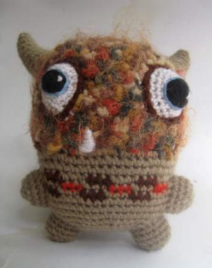 Crochet monster by Julie Ramsden.