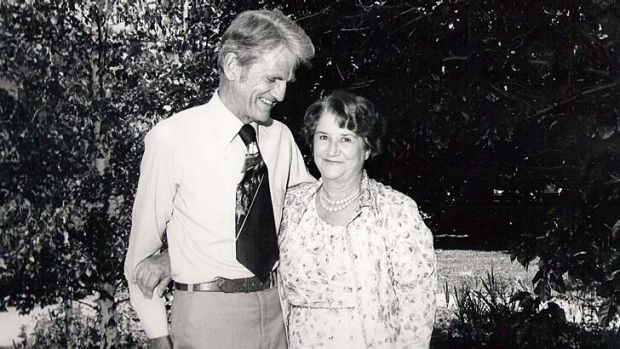 A way with words … Gwen Kelly, pictured with husband Maurice, knew how to make every moment count.