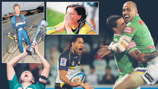 It has been a year of high emotions for Canberra's sports stars.