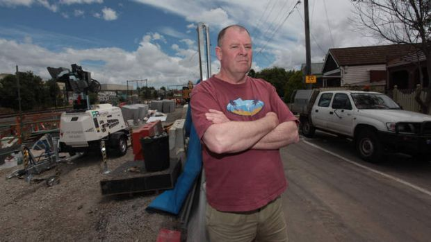 Greg Price lives near the Footscray night-time works and was given alternative accommodation.