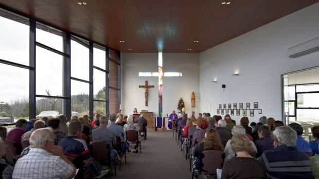 Interior of the new church at Kinglake.
