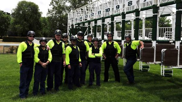 Thoroughbred Park barrier crew.