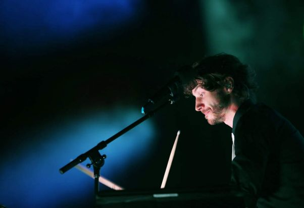 Gotye performs on stage at Sydney Entertainment Centre.