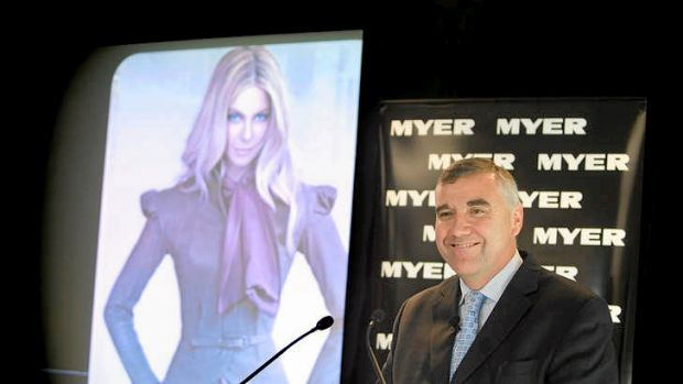 Myer boss Bernie Brookes - the app's already on the cards.
