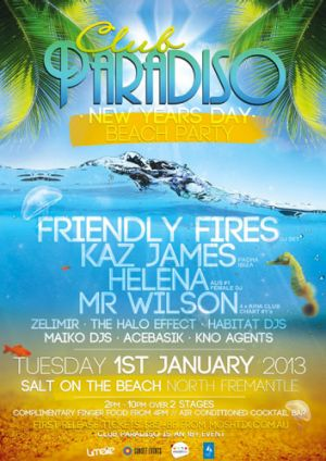 Club Paradiso returns to Salt on the Beach for New Year's Day 2013.