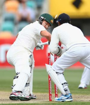 Controversial ... Shane Watson is stumped.