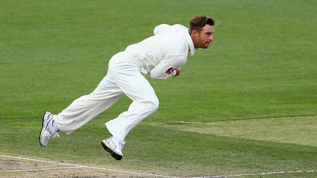 Gloves are off: Keeper Matthew Wade turns bowler in an attempt to eke out a wicket for Michael Clarke.
