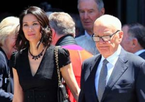 Rupert Murdoch and his wife Wendi.