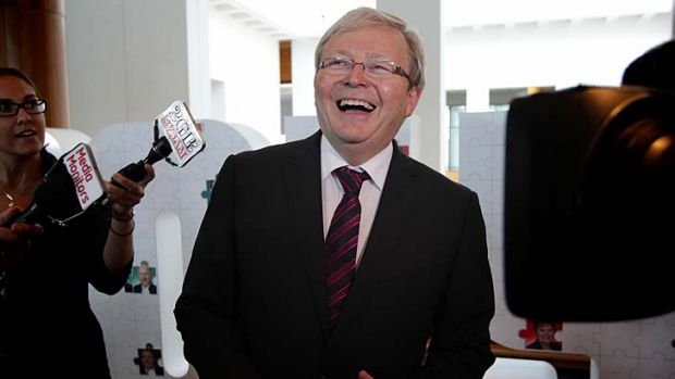 Rudd 'clearly trying to draw attention to himself', says Julie Bishop.